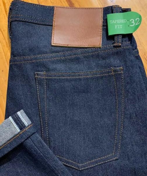 Unbranded UB201 tapered fit 14.5 oz. indigo selvedge jeans