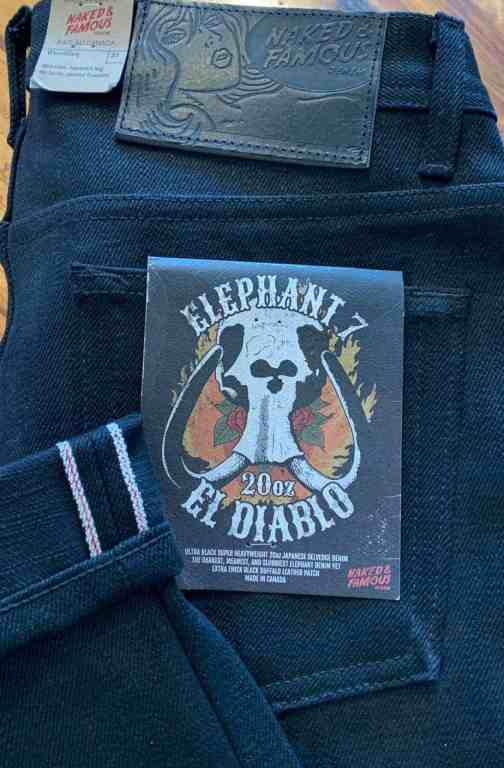 Naked and Famous Denim Elephant 7 Weird Guy 20 oz. Selvedge Jeans
