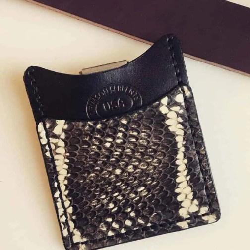 Cobra Front Pocket Wallet Crimson Serpents Leather Goods White Asian Cobra
