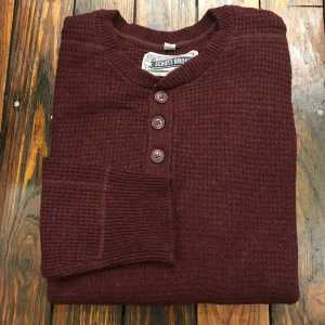 Button Henley Sweater Schott NYC