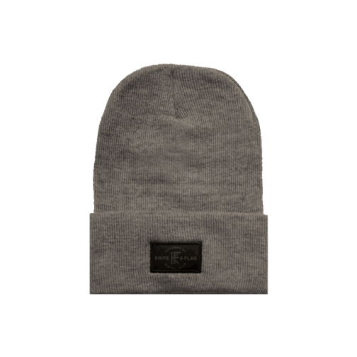 Knife and Flag Survival Union Watch Cap Heather Grey