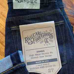 Railcar Fine Goods X031 Donna High Waist Skinny Jeans