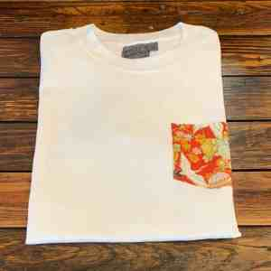 Naked and Famous Denim Tsuru Festival White Pocket Tee