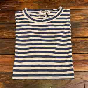 WHOLE Navy Striped Short Sleeve T-shirt