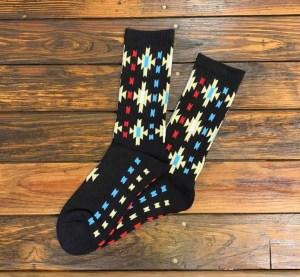 The Ampal Creative Starburst Socks in Black.