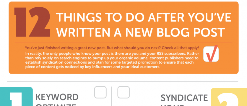 Finally! A Blog Promotion Checklist That Makes Sense!