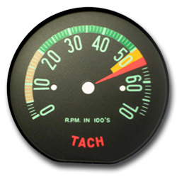 1961 Late, 1962 Early Low RPM Tachometer Face