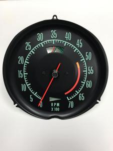 1968- 1971 Corvette Tachometer Assembly New Electronic Conversion Tach
