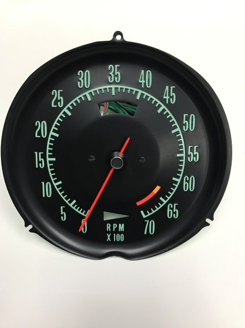 1968 Corvette Tachometer Assembly 6500 Redline