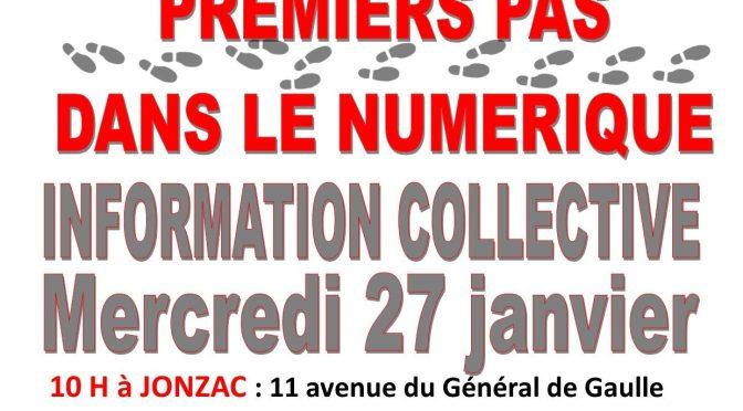 Information collective Premiers pas numériques