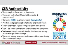 Being Authentic with Corporate Social Responsibility