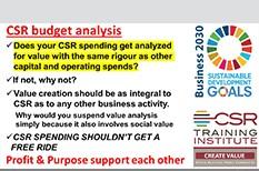 CSR budgets shouldn't get a free ride