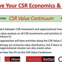 Improve your CSR economics and impact