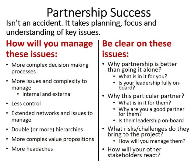 Partnership success