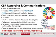 CSR Communications: Give Credit Where Credit Is Due