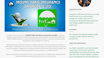 MOUNT FAKO – Professional Services With a difference Our services are free to you
