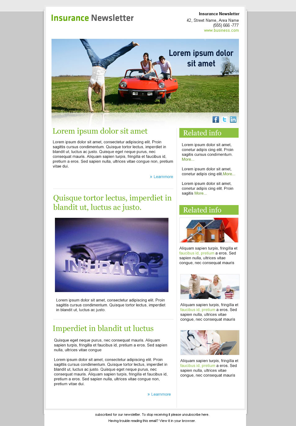 Create your own fun newsletter template to use again and again to connect with readers and grow your customer ba. Good Collection Of Free Email Newsletter Design Templates Psd Laptrinhx