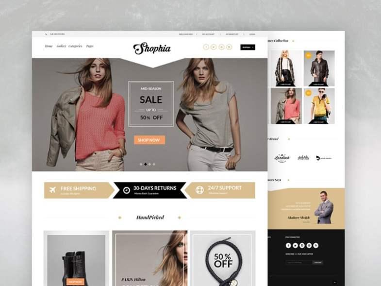 Shophia Бесплатные шаблоны для интернет-магазина psd - Shophia - Бесплатные шаблоны для интернет-магазина PSD