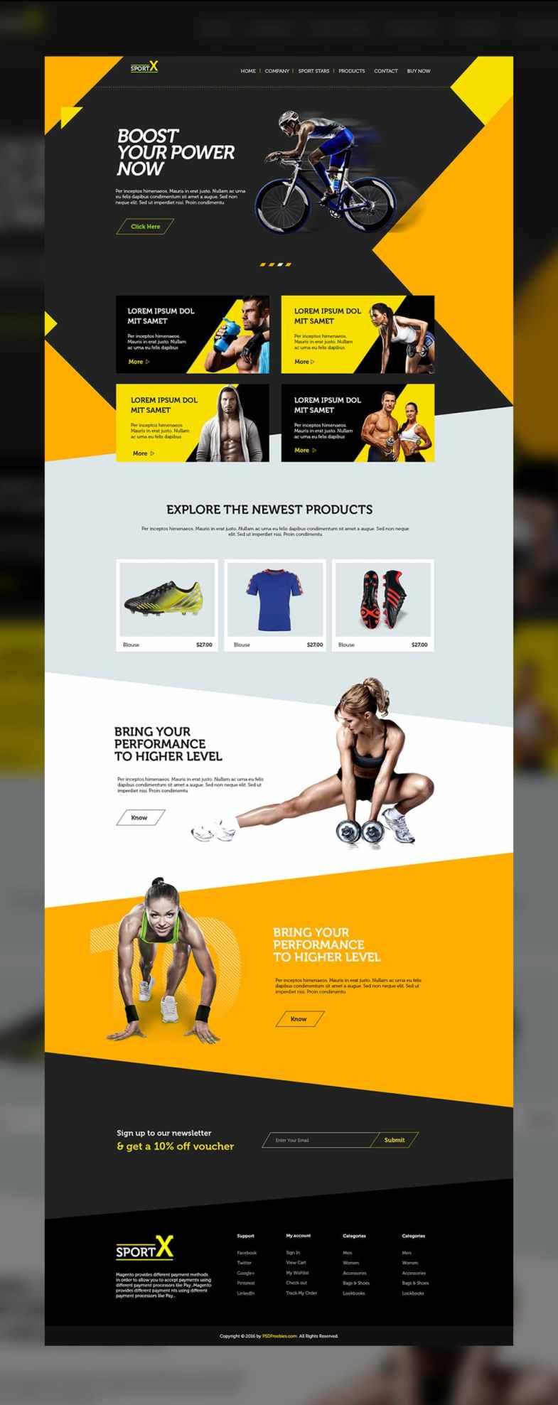 Sports Shop Multipurpose Web Template PSD Бесплатные шаблоны для интернет-магазина psd - Sports Shop Multipurpose Web Template PSD - Бесплатные шаблоны для интернет-магазина PSD