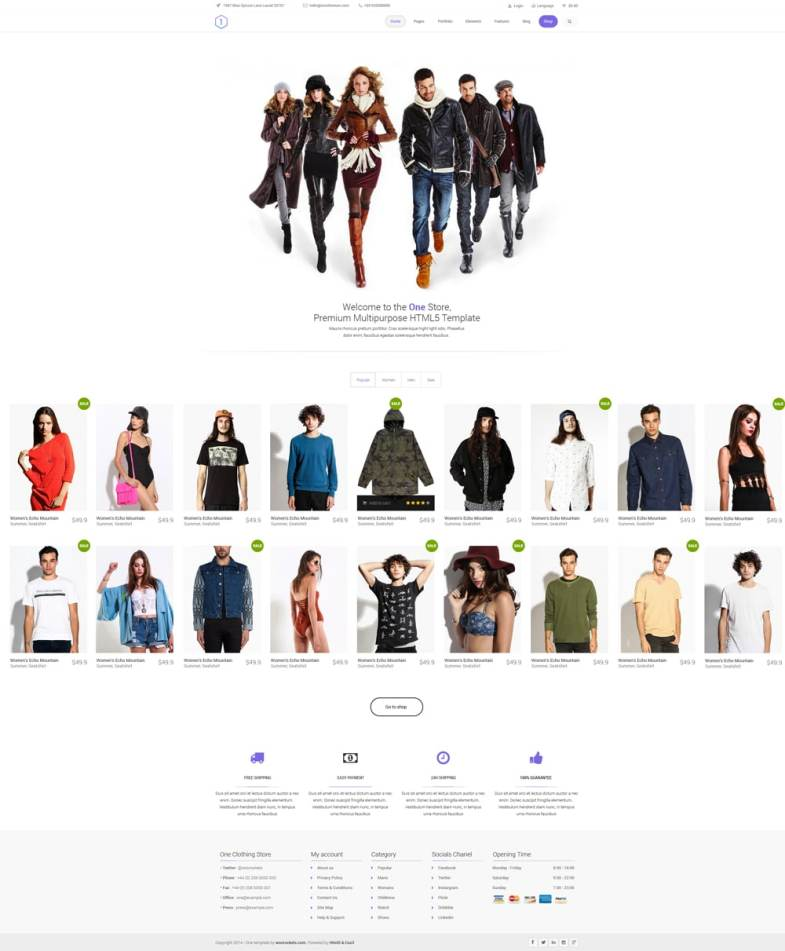 One - Clean Ecommerce Template PSD Бесплатные шаблоны для интернет-магазина psd - one - Бесплатные шаблоны для интернет-магазина PSD