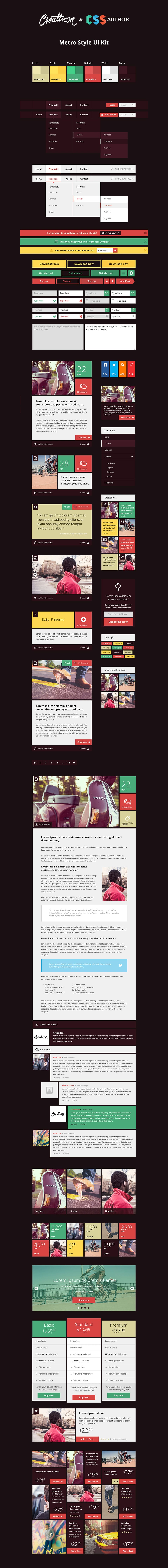 Creatticon UI Kit PSD