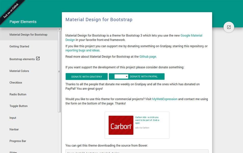 Google Material Design for Bootstrap