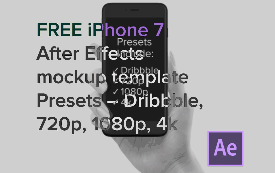 Free iphone 7 After Effects Mockup Template