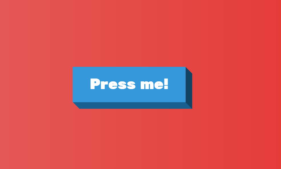 3D Button Design Click Effect With HTML And CSS