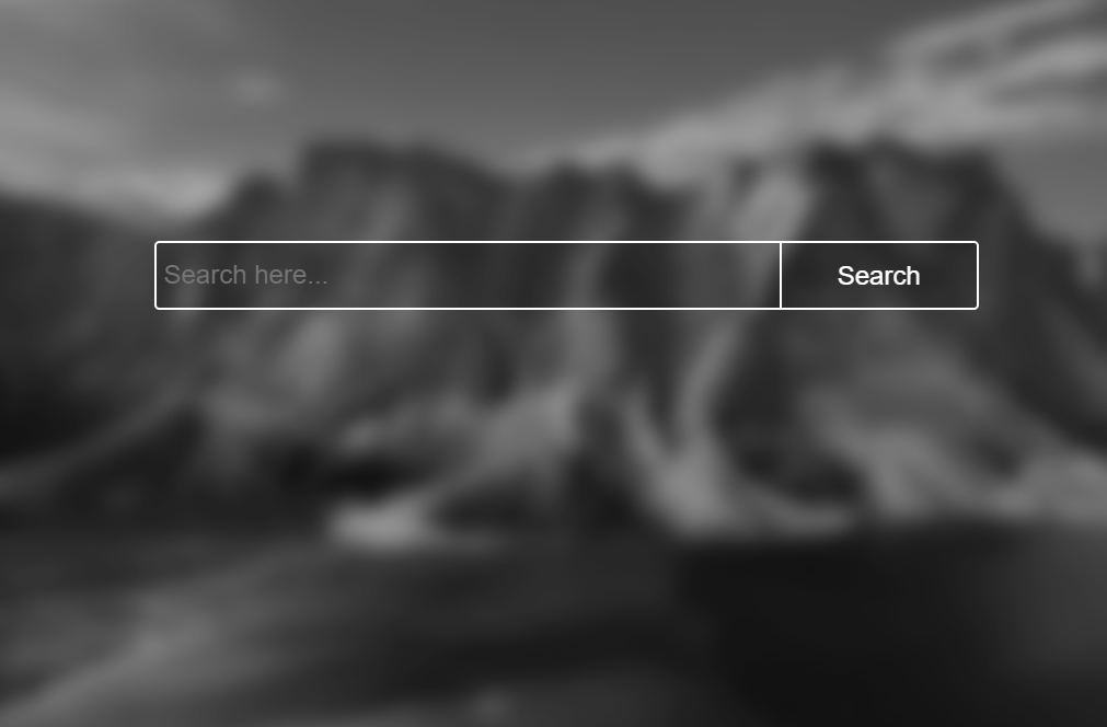Transparent Search Box with Background Image