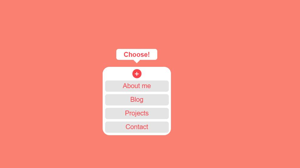 Animated CSS and HTML5 Hidden Toggle Menu