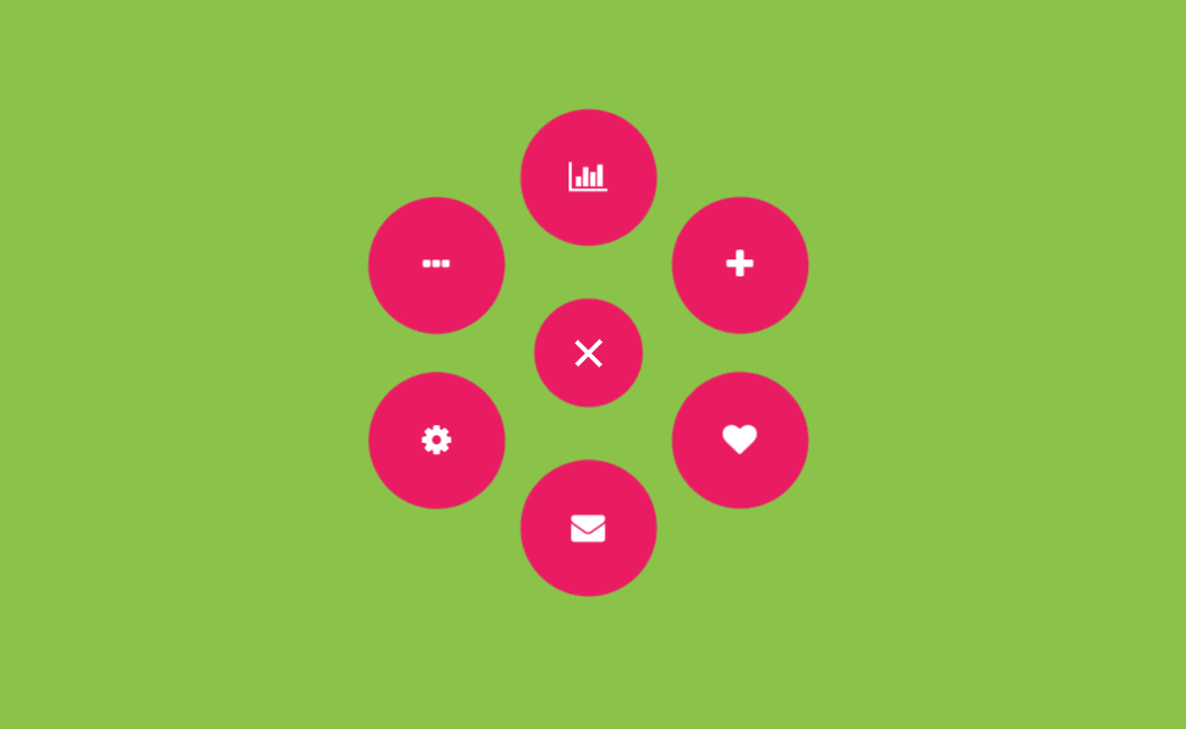 Circle Gooey Menu with CSS and SVG Filters