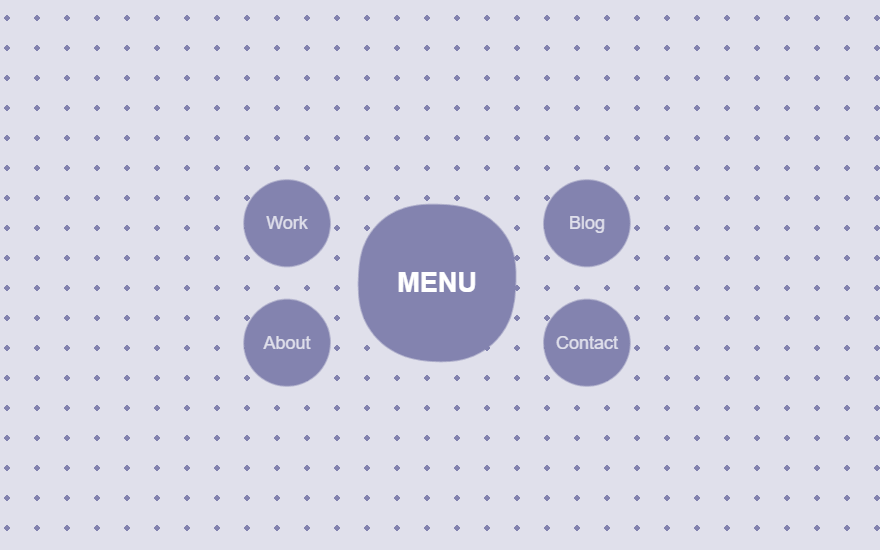 CSS Circle Menu with Wave and Animation