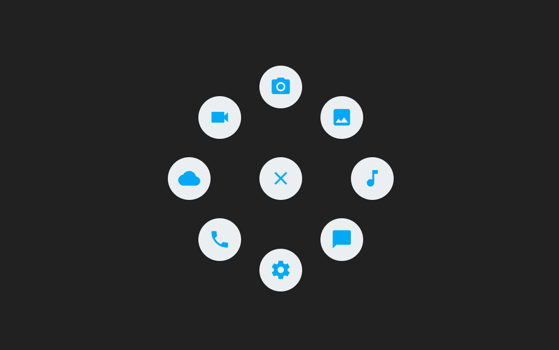 CSS Circular Icon Menu Navigation