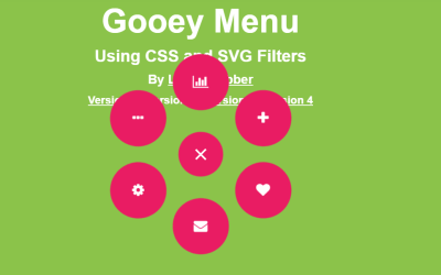 CSS Circular Toggle Menu with SVG Filters