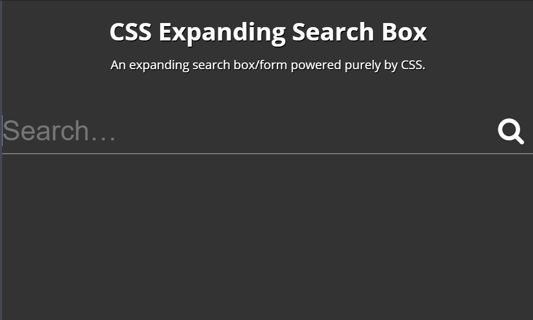CSS Expanding Search Form/Box Example
