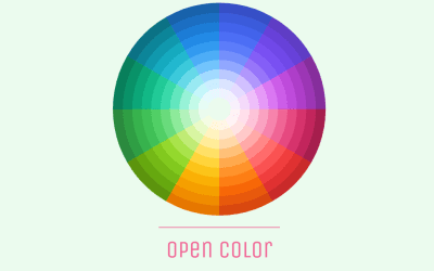 CSS Only Circle Color Picker Palettes Example