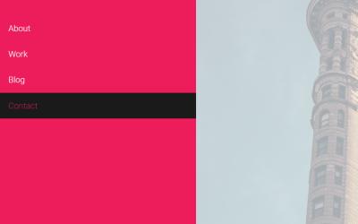 CSS Push SVG Sidebar Nav Animation Snippet