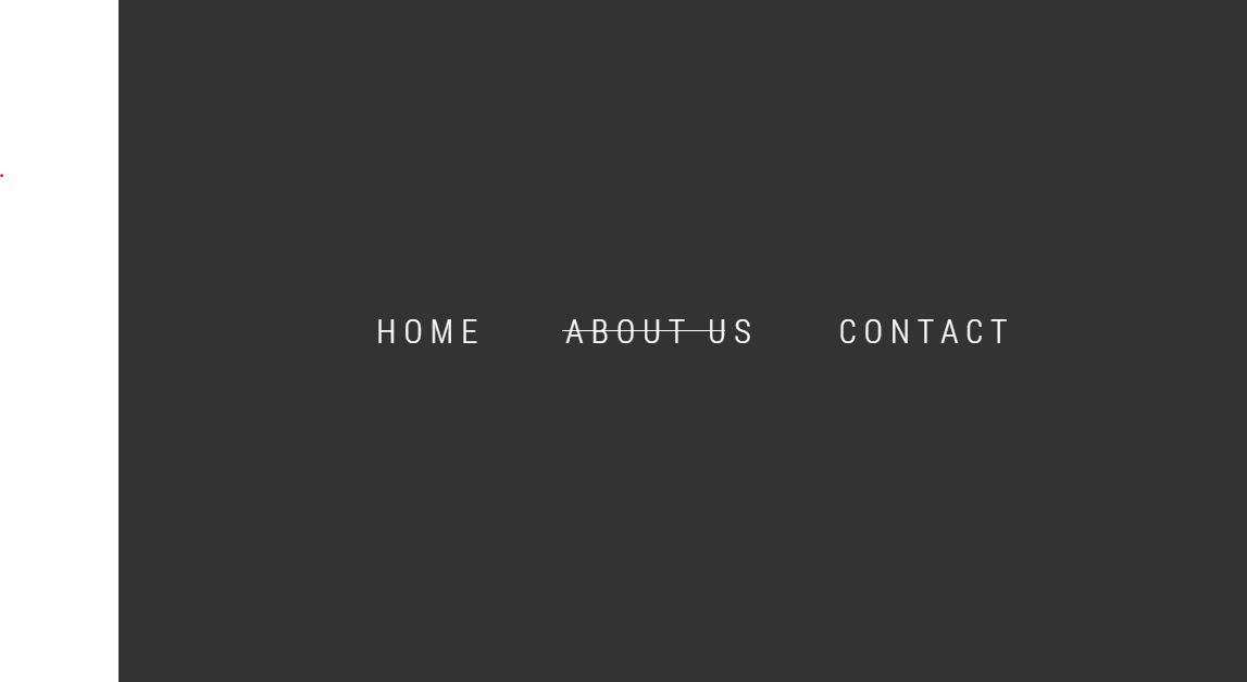 CSS Tabs Menu with Strikethrough Style