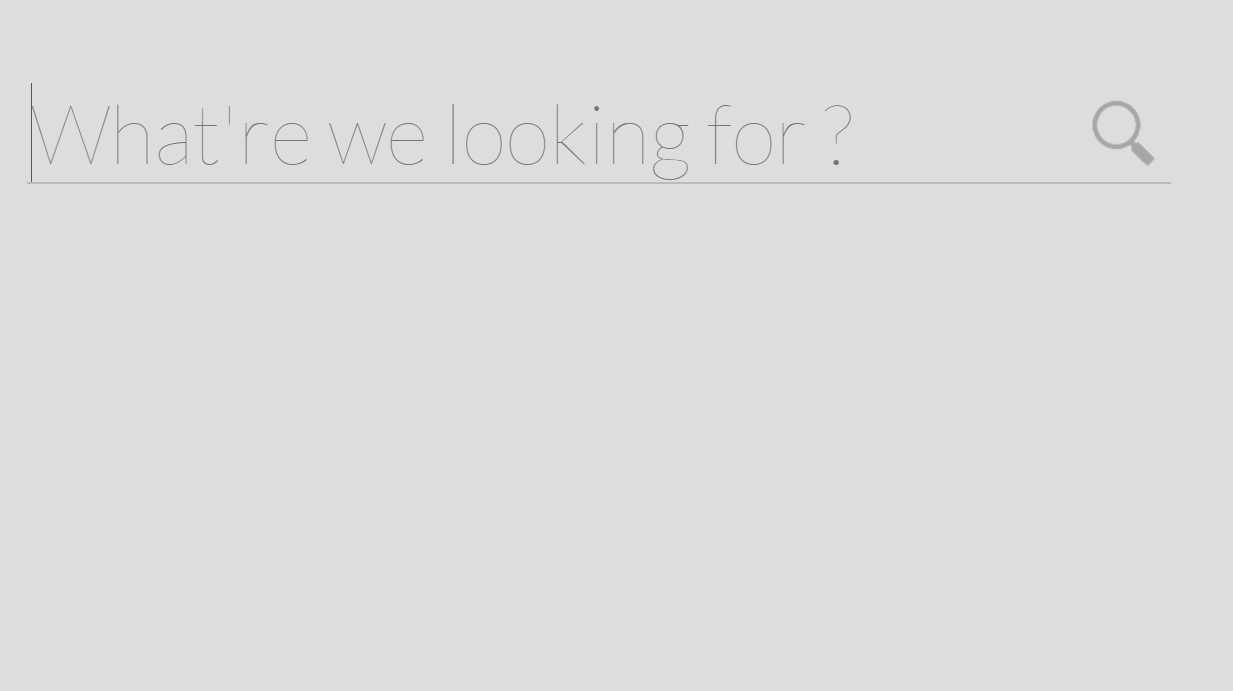 CSS3 Animation Search Form Awesome Concept