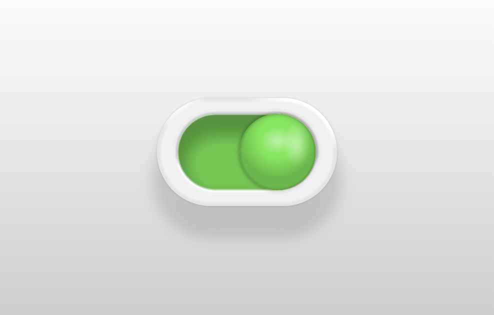 Dual Colored Ball CSS Toy Toggle Switch
