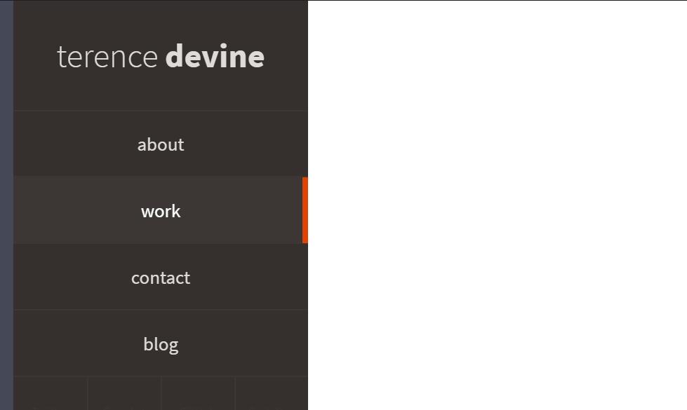 Fixed Sidebar CSS Nav Hover Effect Design