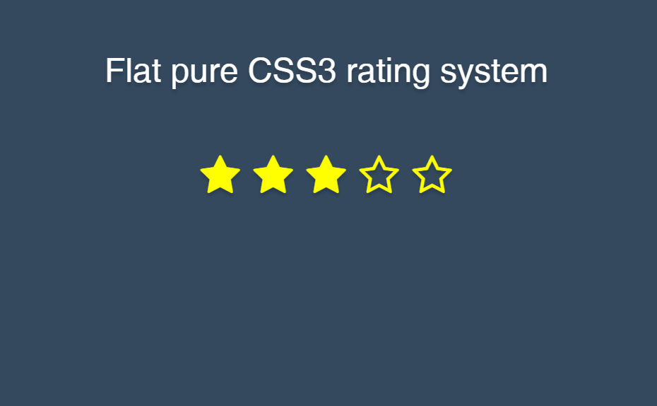 Flat Design Pure CSS3 Rating System