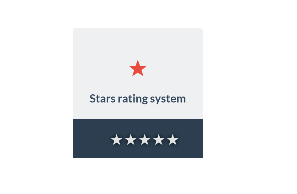 Full CSS3 Different Color Star Rating Widget