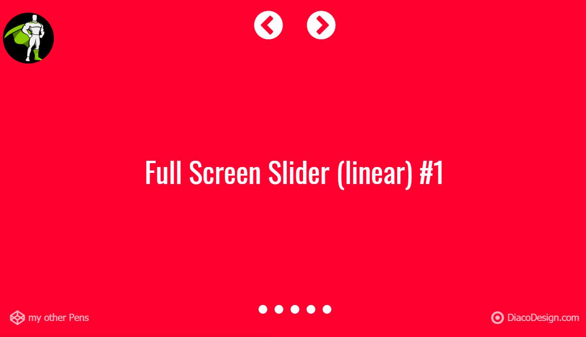 JavaScript Full-Screen Slider Amazing Concept