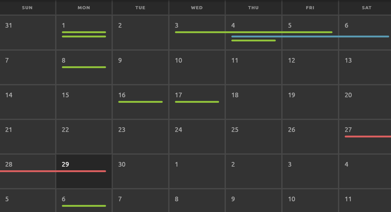 Make a Responsive Calendar Table in HTML and CSS