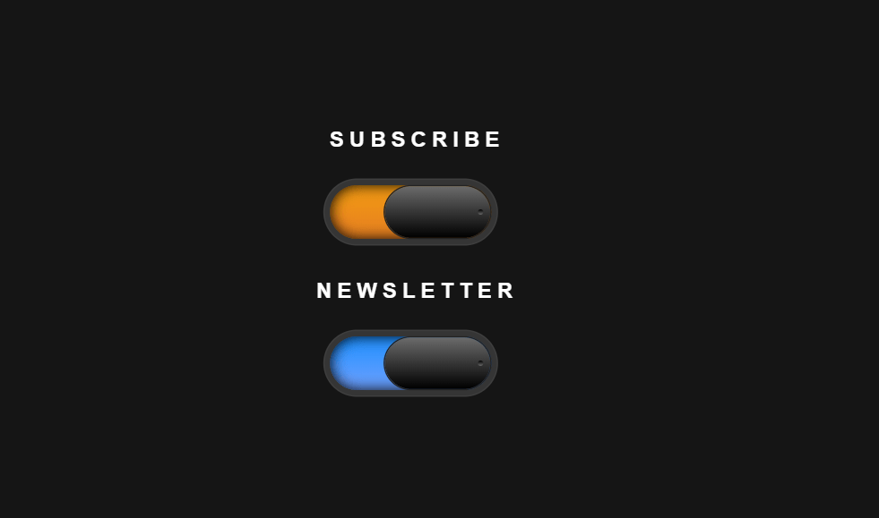 Subscribe Toggle Switch Button CSS Only Concept
