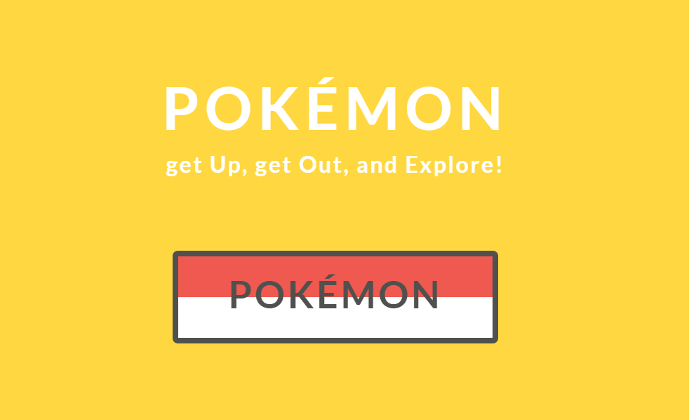 Pokemon CSS Color and Text Hover Style Button Animation