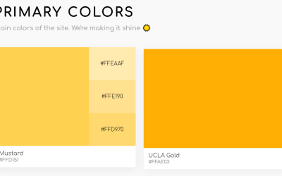 Primary Secondary CSS Grid Color Palette Example