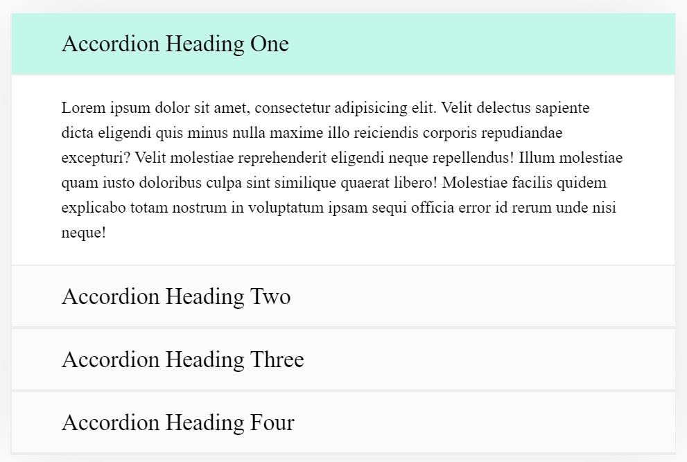 Pure CSS Animated Accordion For Next Web Project