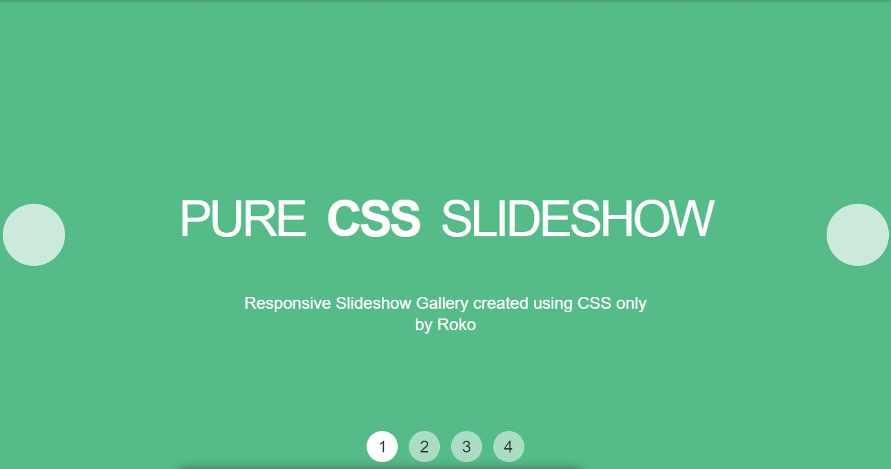 HTML CSS Gallery Slideshow Example with code